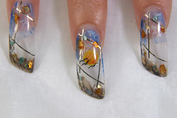 аквариумный дизайн ногтей фото.