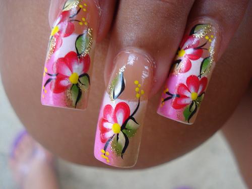 гелевые ногти дизайн видео.