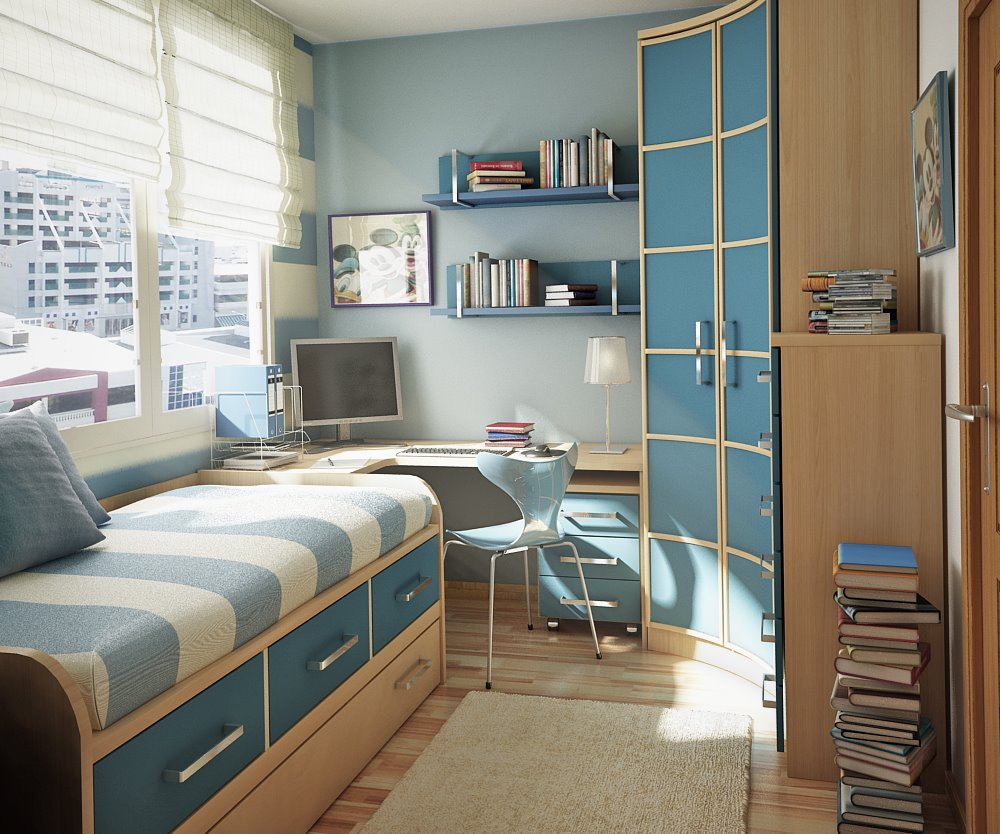 Подростковая комната 8 кв м дизайн