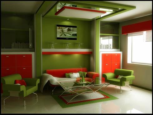 Интересный дизайн интерьера гостиной