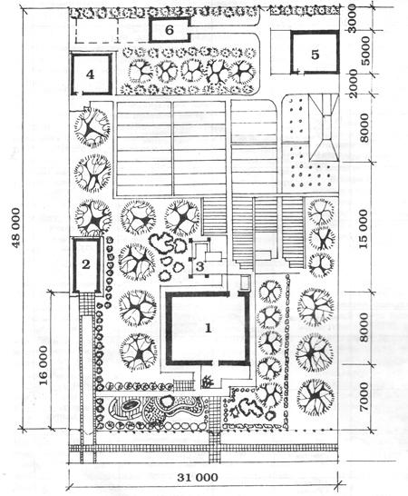 Пример планировки садового участка на