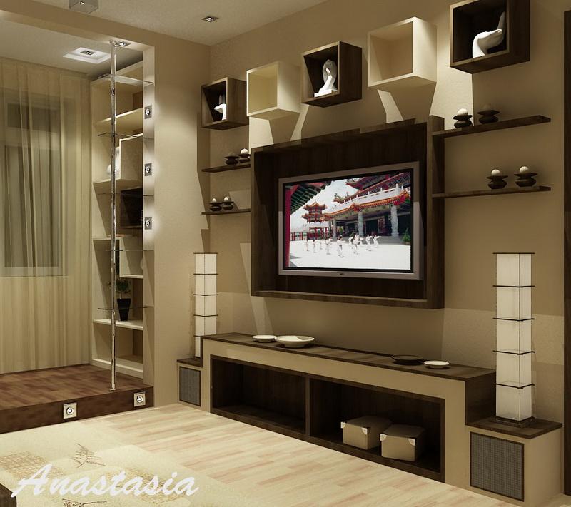 Кабинет в гостиной дизайн